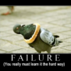 Failure is the only option