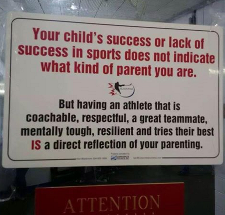 How to raise a successful athlete.